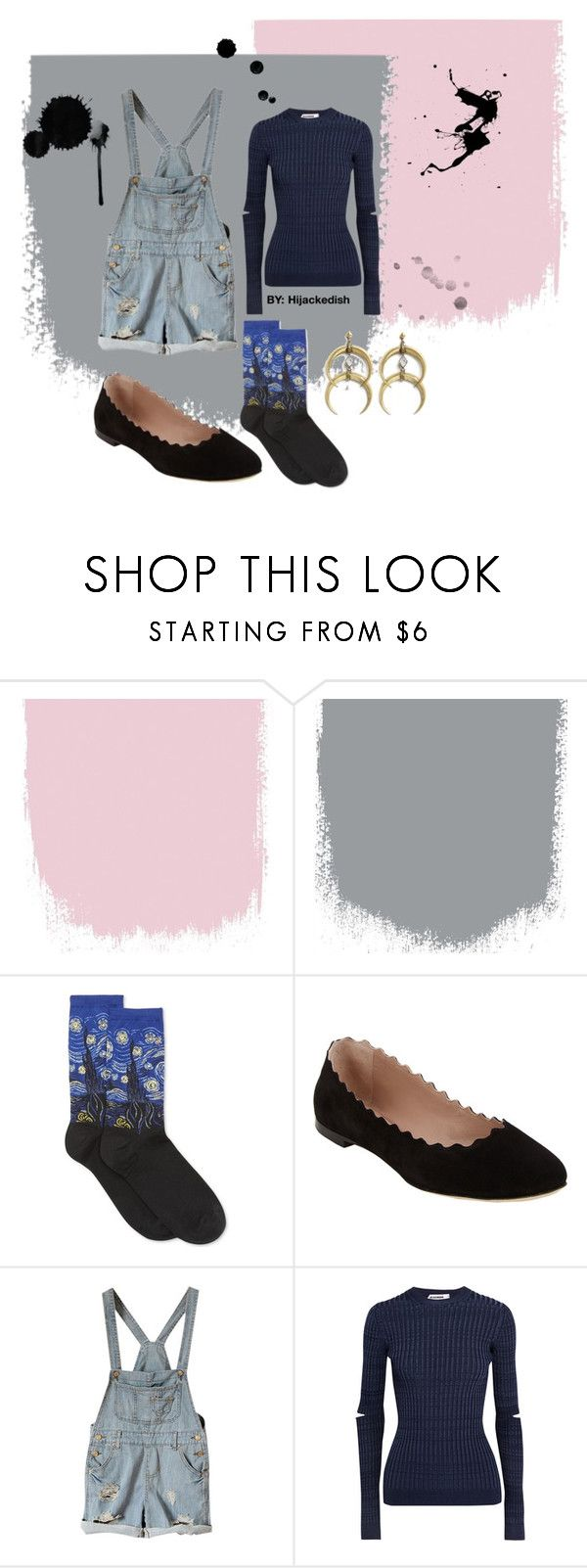 """Starry night 0.2"" by hijackedish on Polyvore featuring HOT SOX, Chloé, Jil Sander and A Peace Treaty"