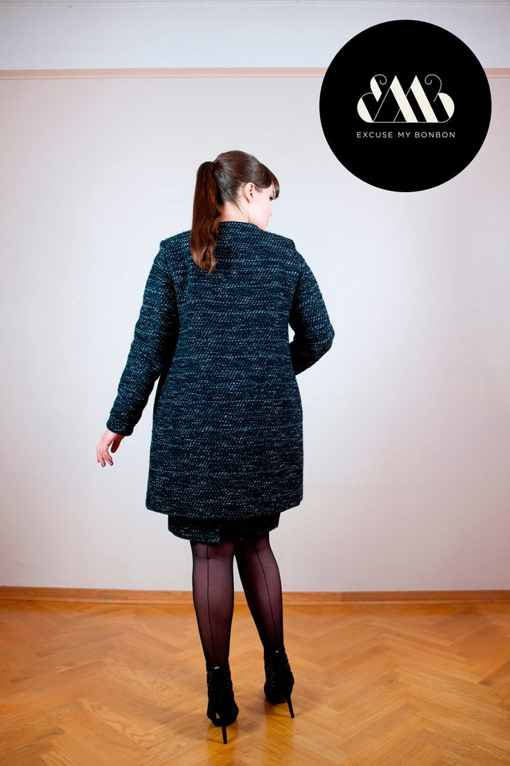 Elle Coat & Anna Pencil Skirt Photo: Jeremy Barrois Make up: Janne Suono Model: Ninja Sarasalo
