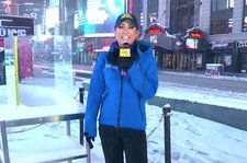 cool NYC Snow Storm: 'GMA,' 'Today,' 'CBS This Morning' Anchors Brave the Cold Weather