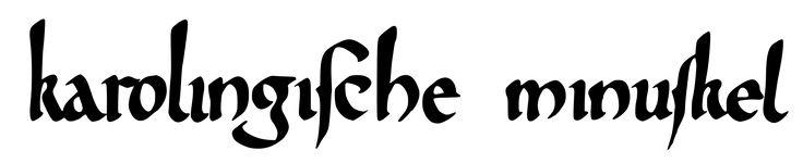 Schriftzug karolingische minuskel - Ausgangsschrift – Wikipedia