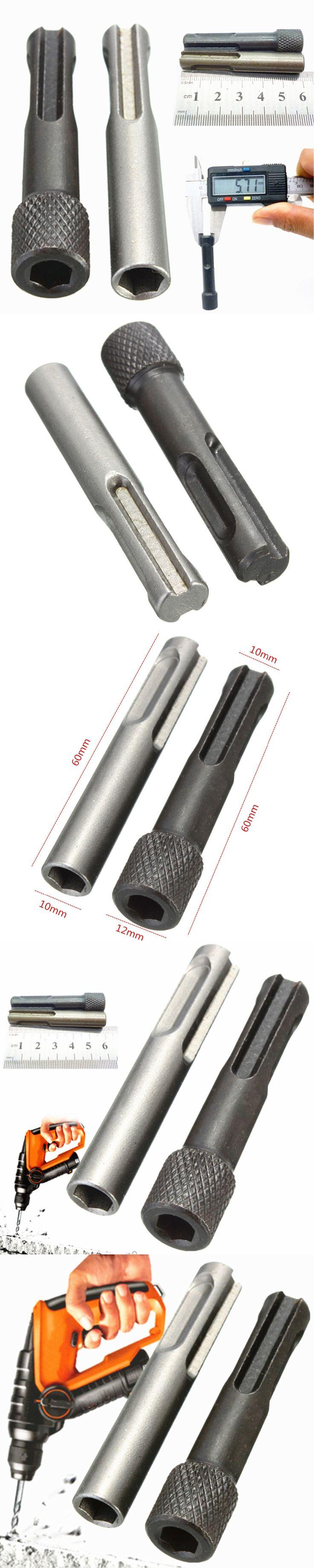 2PCS Hex Shank Screwdriver Holder Drill Bit Adaptor 1/4 Converter Socket Nut Impact Driver Set For for SDS Hammer Drilling Tool