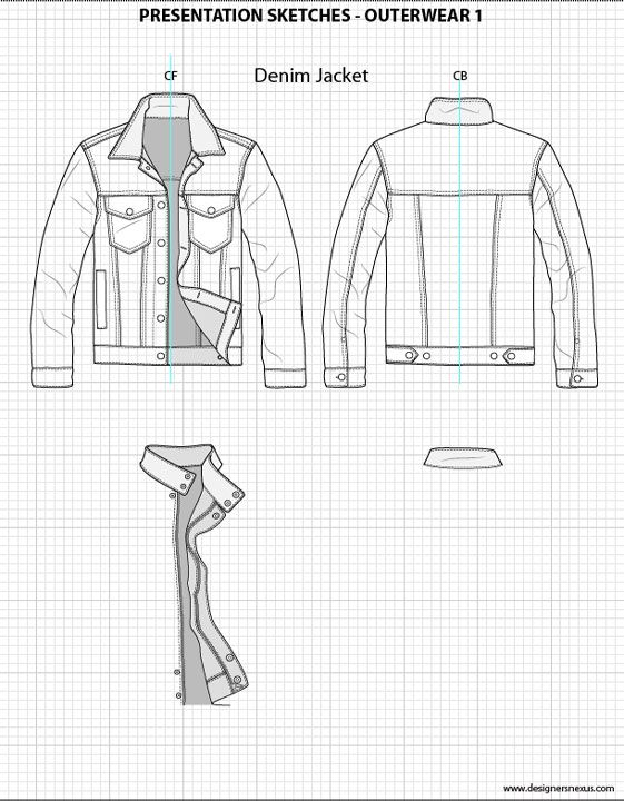 Mens Flat Fashion Sketch Templates - My Practical Skills | My Practical Skills