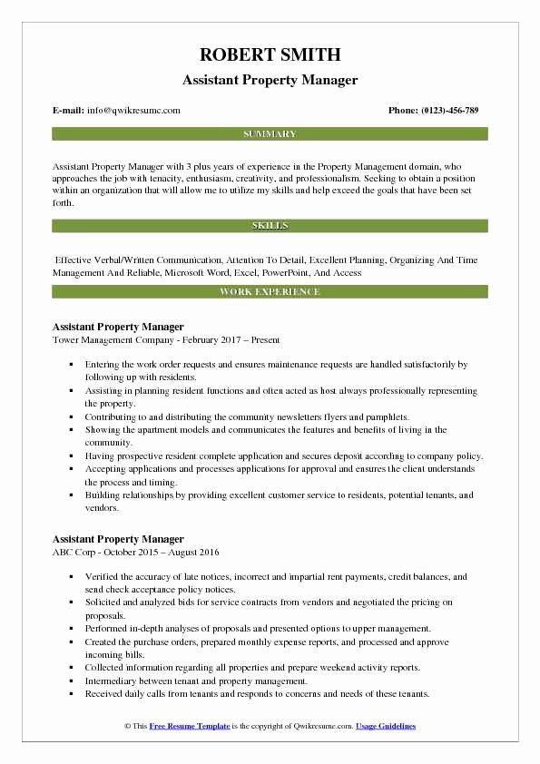 Assistant Manager Resume Description Beautiful Assistant Property Manager Resume Samples Teacher Resume Examples Business Analyst Resume Resume Examples