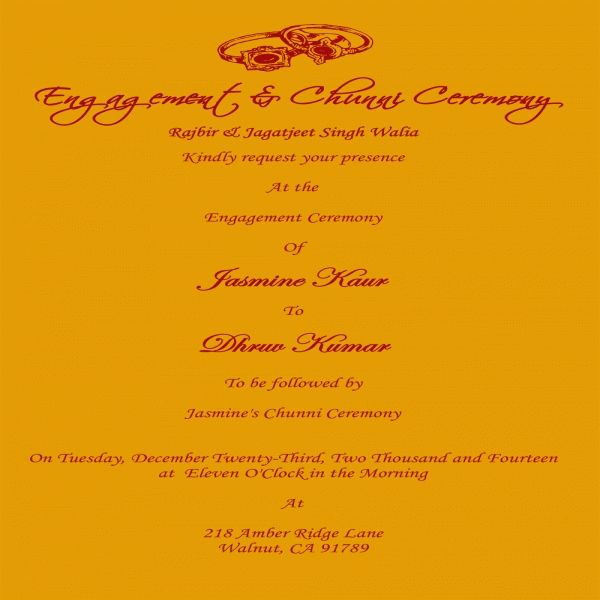 Indian Wedding Invitation Text: 17 Best Ideas About Engagement Invitation Wording On