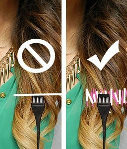 how to achieve ombre hair color at home