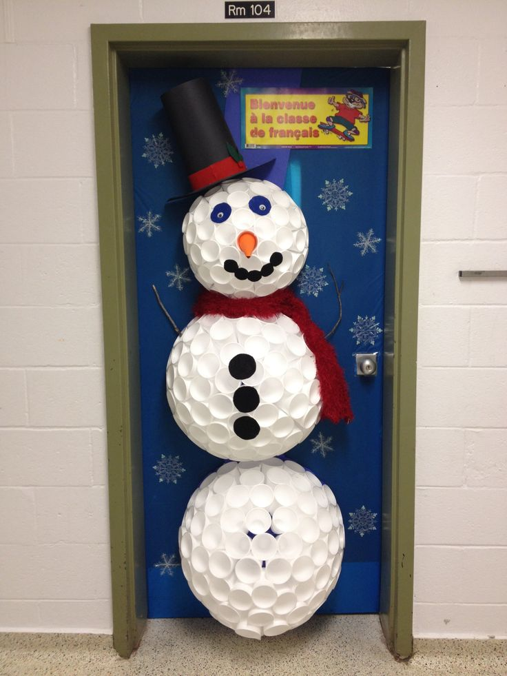 Classroom Door Decoration For Winter Styrofoam Cup