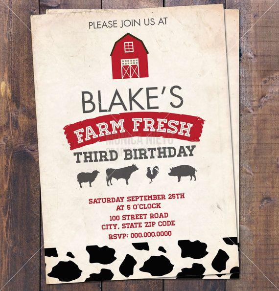 101 best Barnyard Party images on Pinterest Birthdays, Farm - fresh birthday invitation from a kid
