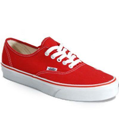 vans shoes men red