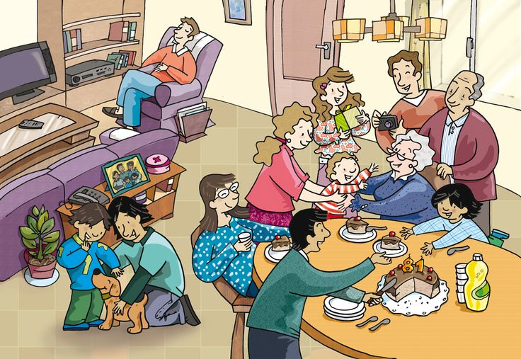 Family/Celebrations Image for writing and speaking.