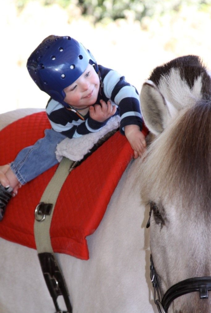 Children with sensory dysfunction can participate in therapeutic horseback riding as a recreational activity to provide proprioceptive feedback. The rider feels proprioceptive input each time the horse moves its hoof.