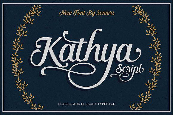 Kathya Script (40% Off) by Seniors on @creativemarket