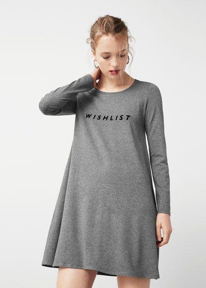 Textured message dress