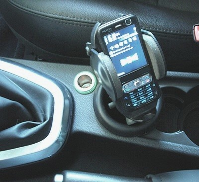 FREELANDER 2 (2007-2012) Cellular phone / iPod / MP3 players console with Genius bracket  (for devices large between 44 and 115 millimeters)