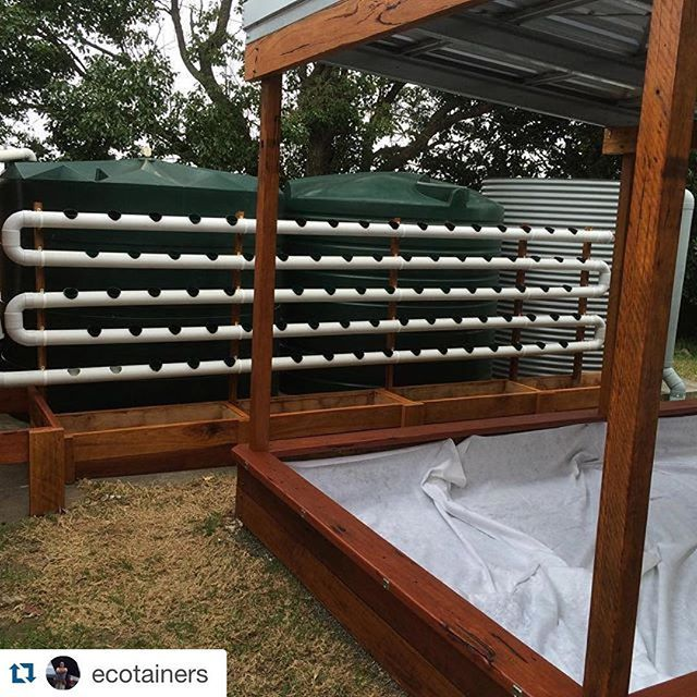 Repost shoutout to @ecotainers! Beautiful job! I love the look of the wood--makes it classy. That's going to be awesome once some vegetables are growing out of it! #hydroponics #foodgarden #growyourownfood #urbanagriculture #apartmentgarden #vegetablegarden #indoorgarden #harperponics #aquaponics