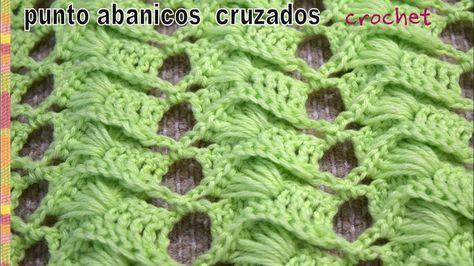 Lindo punto tejido a crochet repitiendo solo 2 hileras Cada abanico está formado por 5 varetas dobles y 6 varetas alargadas Suscríbete a nuestro canal a...