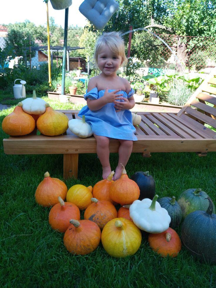 Pumpkin girl. From our pumpkin  Garden❤🎃