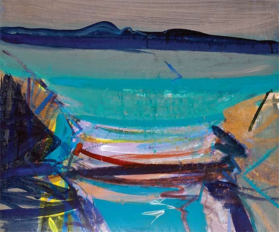 'An Cruinn-Leum - Low Tide' (2010) by Barbara Rae