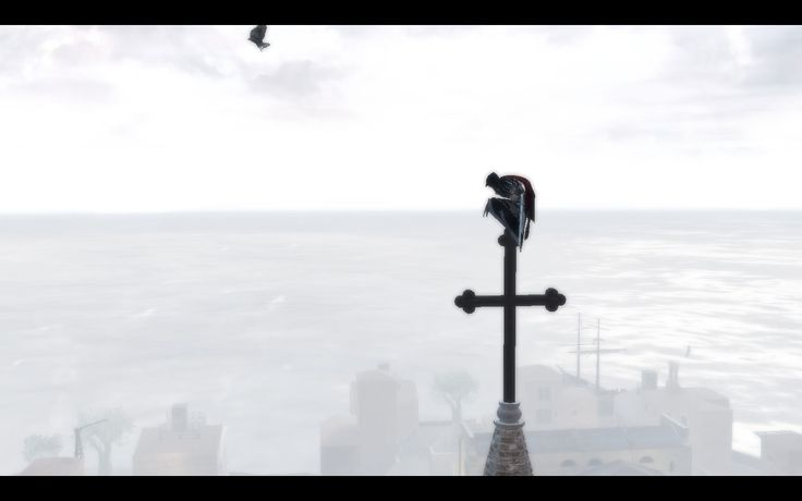 Ezio keeps climping on crosses, Altair had only one viewpoint like this, and Ezio realy has someting for climbing crosses