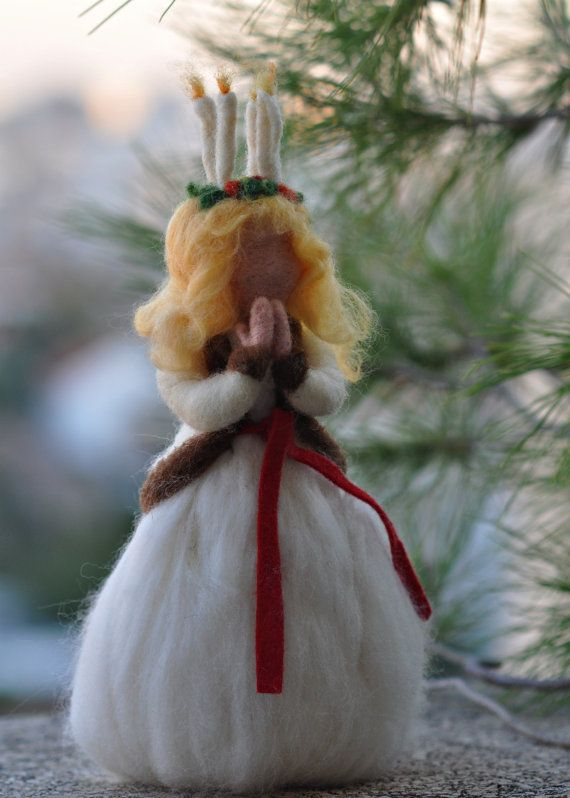 Santa Lucia needle felted etsy