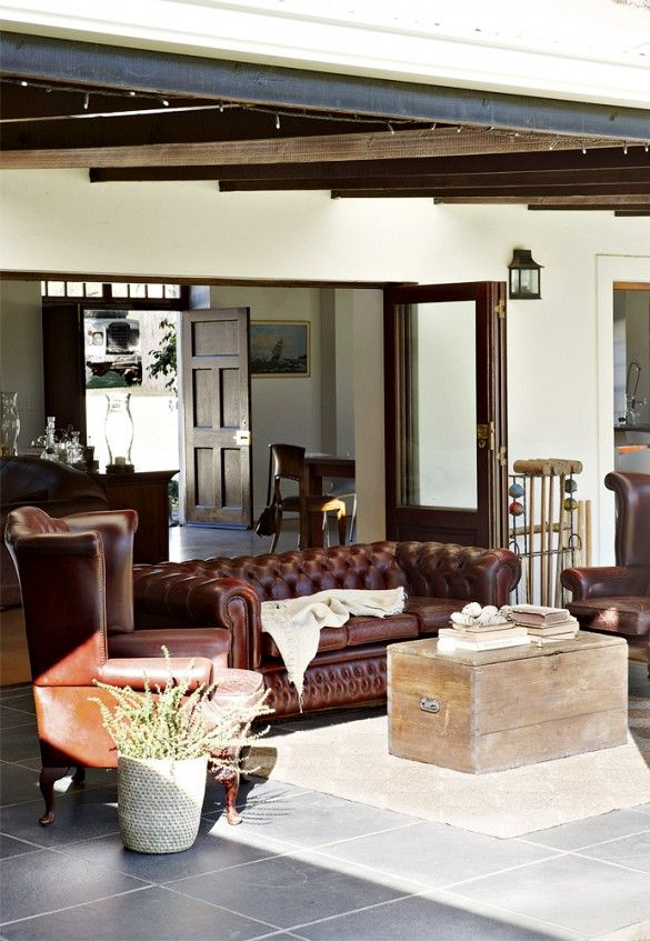 Tour A Tranquil Farmhouse Outside Of Cape Town Masculine Living