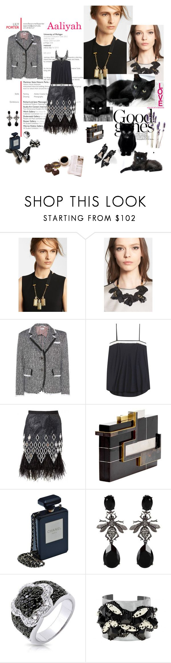"""Aaliyah 2016-513"" by aaliyah ❤ liked on Polyvore featuring Marni, Thom Browne, Matthew Williamson, Jill Haber, Chanel, Oscar de la Renta, Bling Jewelry, Forest of Chintz and polyvoreeditorial"