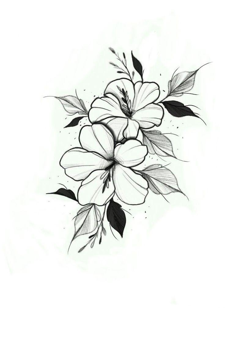 Черно белые картинки с цветами для срисовки