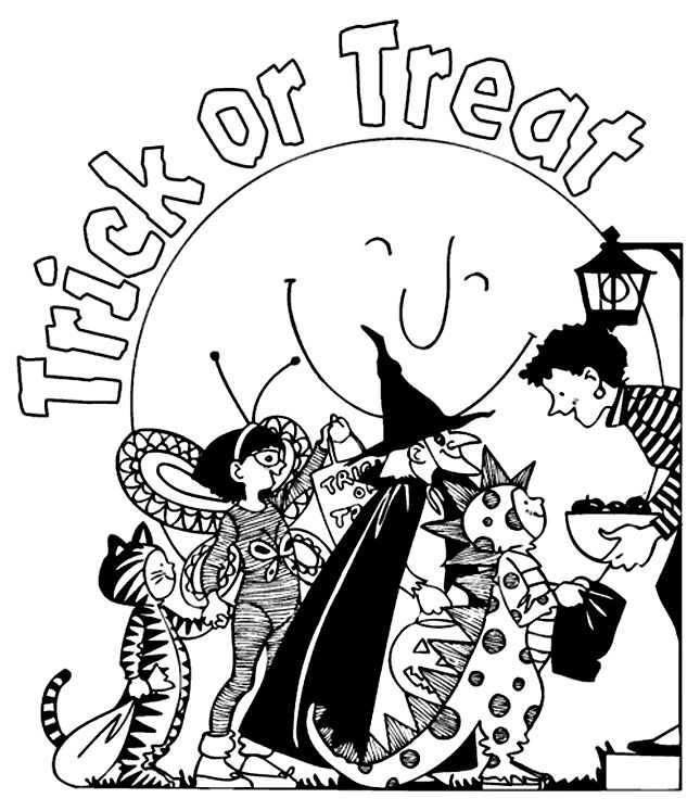 Treat Kids To Fun Coloring Page