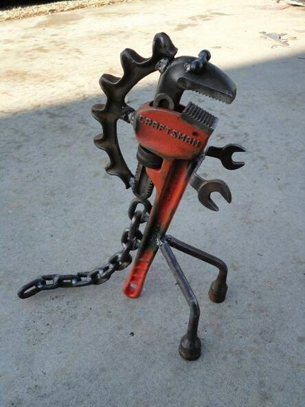 Found Object Art - Inspiration for re-purposing old tools and parts