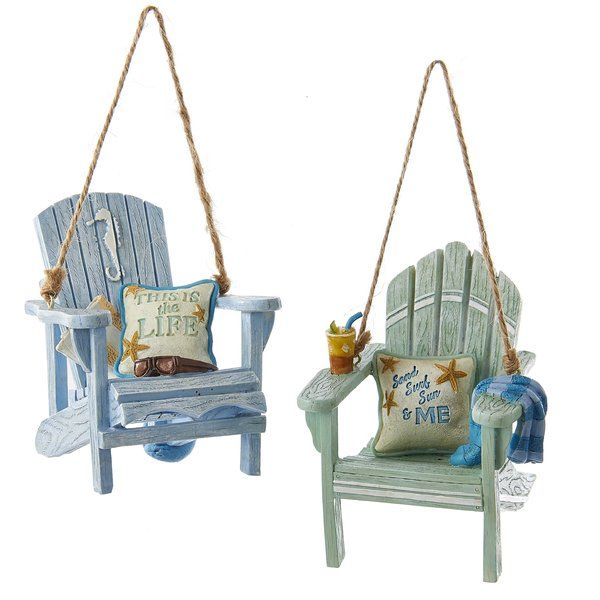 2 Piece Beach Chair Holiday Shaped Ornament Beach Chairs Comfy Living Room Furniture Store Decor