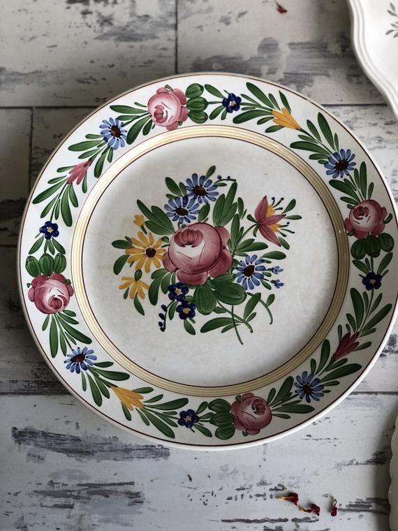 Vintage Villeroy Boch Dresden Germany Dinner Plates Hand
