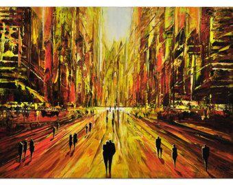 Sie suchen abstrakte Acrylgemälde? Bei uns finden Sie einzigartige Originale wie dieses faszinierende Kunstwerk von K. Namazi. -> Kostenloser Versand innerhalb Europas und in ausgewählte Länder (siehe untenstehende Liste)!  Weitere Informationen zur Künstlergruppe und der Galerie sowie alle angebotenen Kunstwerke finden Sie in unserem Etsy-Shop:  http://www.etsy.com/de/shop/TheArtmakers  Das Kunstwerk:  Titel: Meine Stadt! Maße: 100 x 50 x 4 (Tiefe) cm Material: Ac...