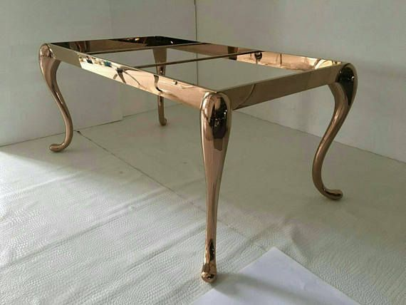 Metal Dining Table Legs For Sale Solid Rose Gold Metal Table Legs Stainless Steel Glass From Ivadecorstud Metal Dining Table Dining Table Legs Gold Metal Table