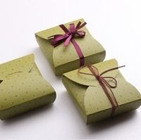 FREE SHIPPING green cardboard gift box packaging wedding candy boxes mooncake box 12*12*4cm