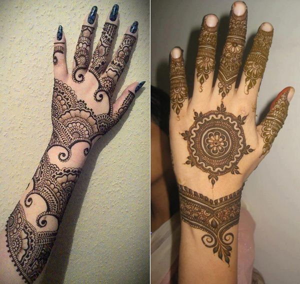 Latest Bridal Mehndi Designs for Girls for Hands and Wrists