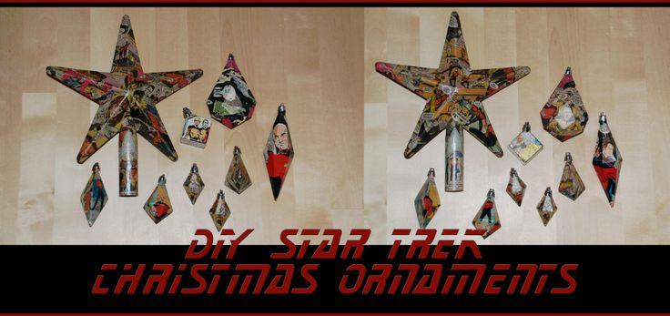 DIY Star Trek Christmas ornaments