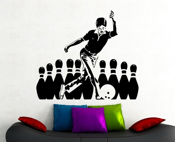Bowling Stickers Sports Wall Decal Home Interior Living Room Decoration Bowling Club Interior Decor Vinyl Art Waterproof Sticker