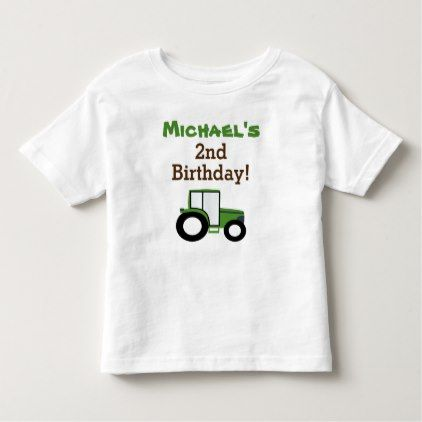Tractor Birthday T-shirt Toddler Kid Child - toddler youngster infant child kid gift idea design diy