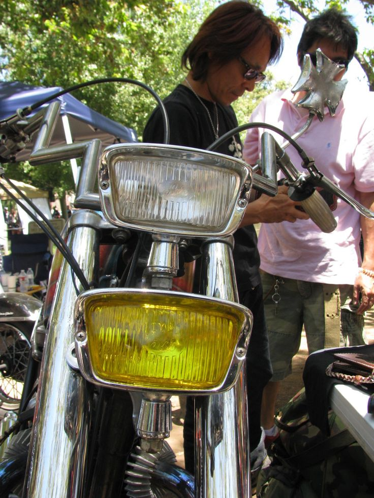 Fabulous Accessories Awesome Chopper Headlight For Your Bike Cool white and yellow rectangular chopper headlight