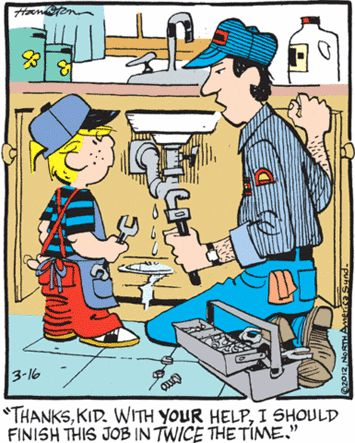 Dennis The Menace The Plumber S Helper The New Sunday