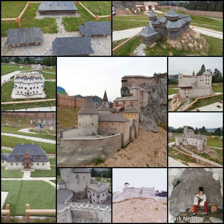 Miniatury hradov Nedzica Polsko.