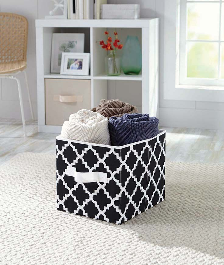Better Homes And Gardens Collapsible Fabric Storage Cube Set Of 2 Multiple Colors Gardens
