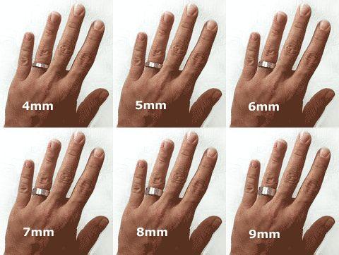 Wedding Band Widths Hand Model