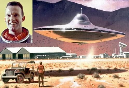 Astronaut Gordon Cooper - witnessed the landing of a UFO in 1957