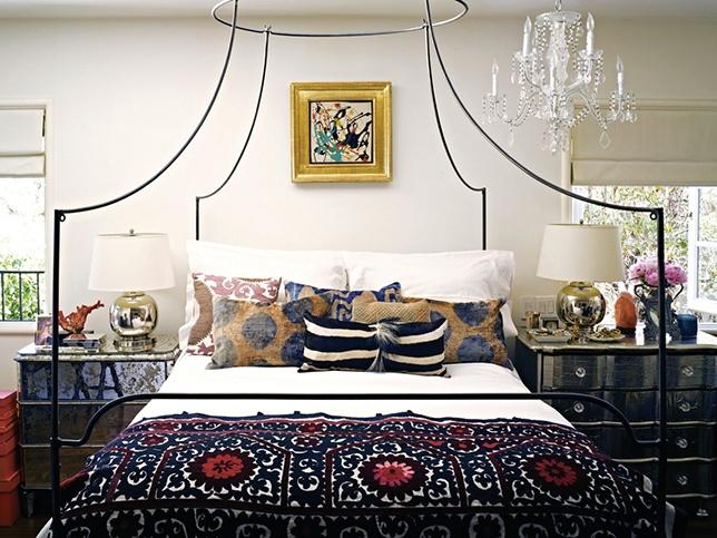 modern ethnic bedroom via unstitched