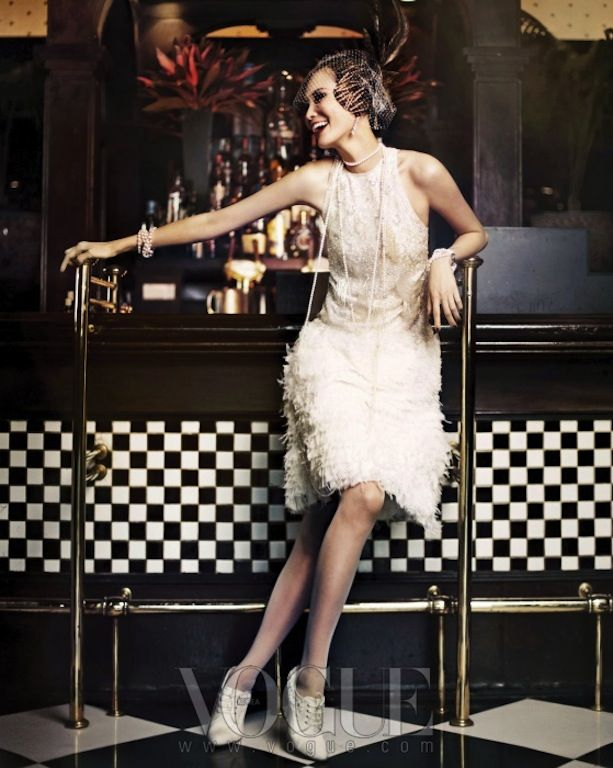 """for a vintage style dress party --""""Good Time Girls"""": Flappers by Hong Jang Hyun for Vogue Korea"""