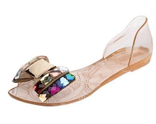 Oferta: 3.9€. Comprar Ofertas de Mine Tom Mujer Sandalias De Verano Zapatos De La Jalea Bling Pajarita El Sandalias De Playa Casual Peep Toe Zapatos Dorado B barato. ¡Mira las ofertas!