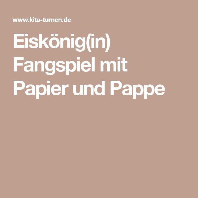 Eiskönig(in) Fangspiel mit Papier und Pappe