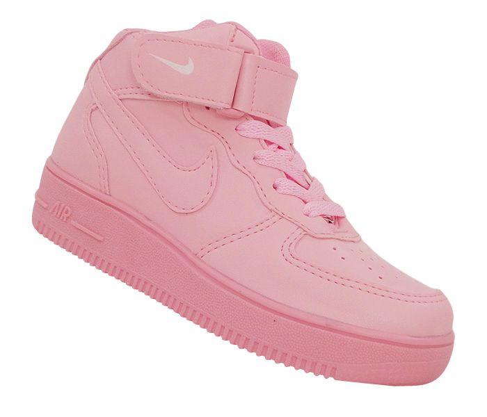 Tênis Infantil Nike Air Force 1 Mid '07 Rosa Bebê