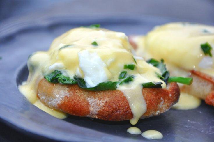 Egg Florentine, USA,Andet, Morgenmad, Æg / omelet m.m., opskrift