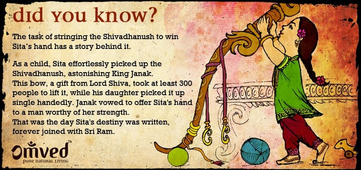 The day when Sita and Lord Rama's destinies entwined. Marriages are indeed made in heaven.